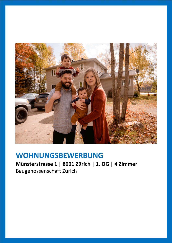 Bild Creative blue Wohnungsbewerbung